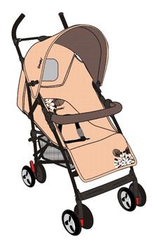 Летняя коляска Geoby D209