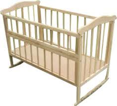 Нелакированная кроватка ольха с откидной передней стенкой